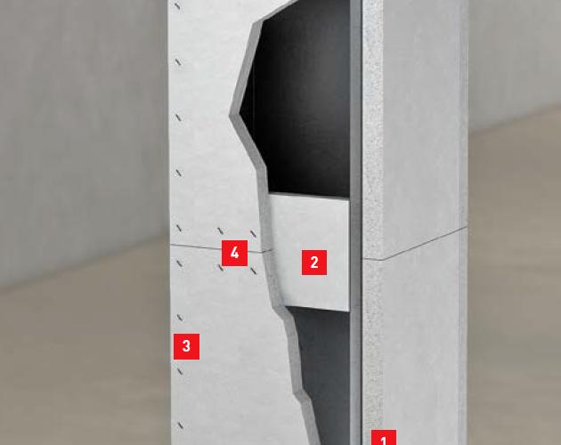 Cembrit börjar sälja brandskyddsskivor för stålbalkar och pelare