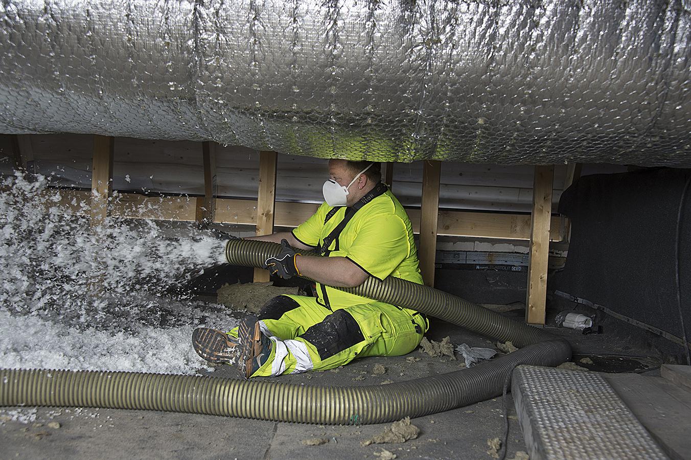 Innovativ lösning ger 100% återvinning av isolering