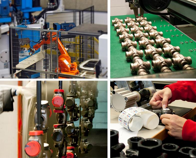 ESBE produktion linjära ventiler