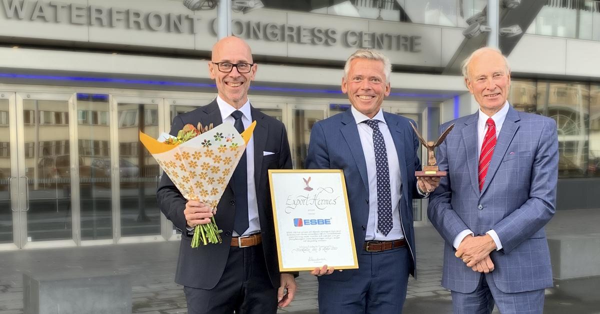 ESBE stolt vinnare av utmärkelsen Export Hermes 2020