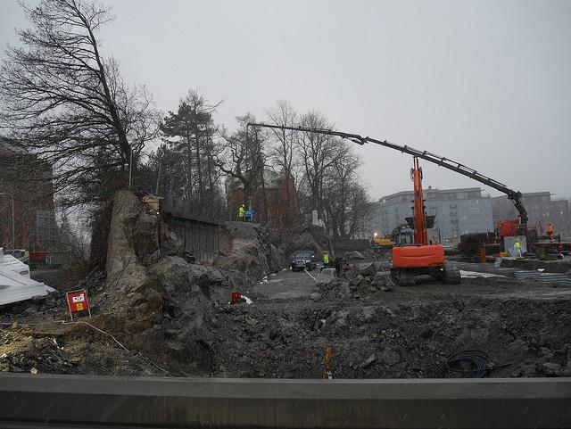 Pågående byggnation i NDS