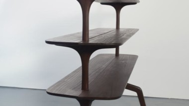 Edward Collinson Design crafts freestanding masterpiece from Kebony wood
