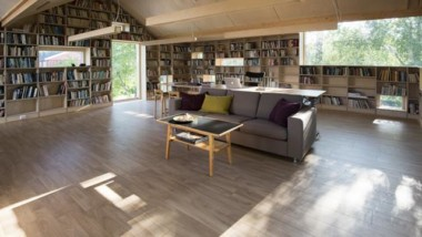 Kebony cladding for library hideaway