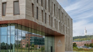 Origami inspired Kebony façade