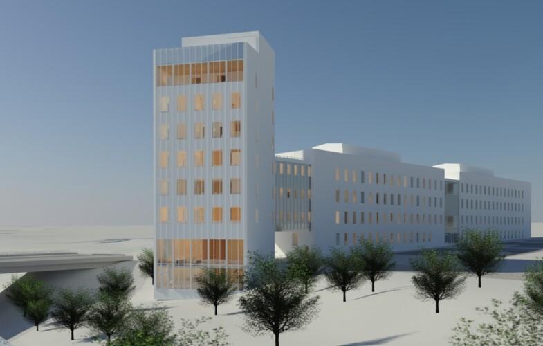 Martinsons levererar stomme till sju våningar högt kontorshus i trä