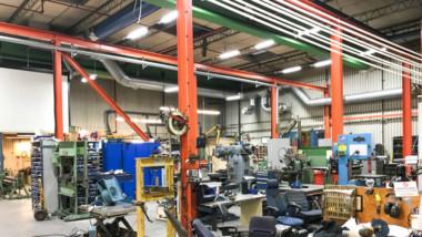 NKT-cables väljer ny belysning i serviceverkstad
