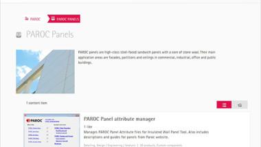 Tekla Structures innehåller nu även Paroc Panel Systems produkter