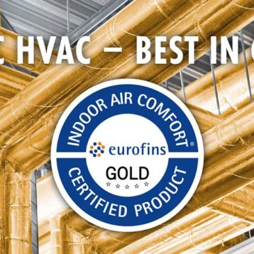 Paroc certifierat enligt Eurofins Indoor Air Comfort GOLD