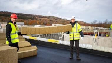 ROCKWOOL återvinner isolering från Skaraborgs sjukhus