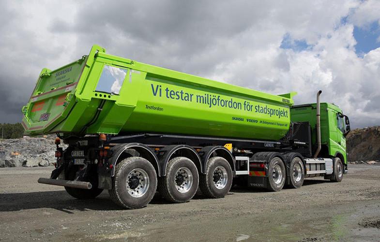 Skanska lanserar gröna lastbilar