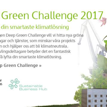 Deep Green Challenge 2017 – tävla med din smartaste klimatlösning