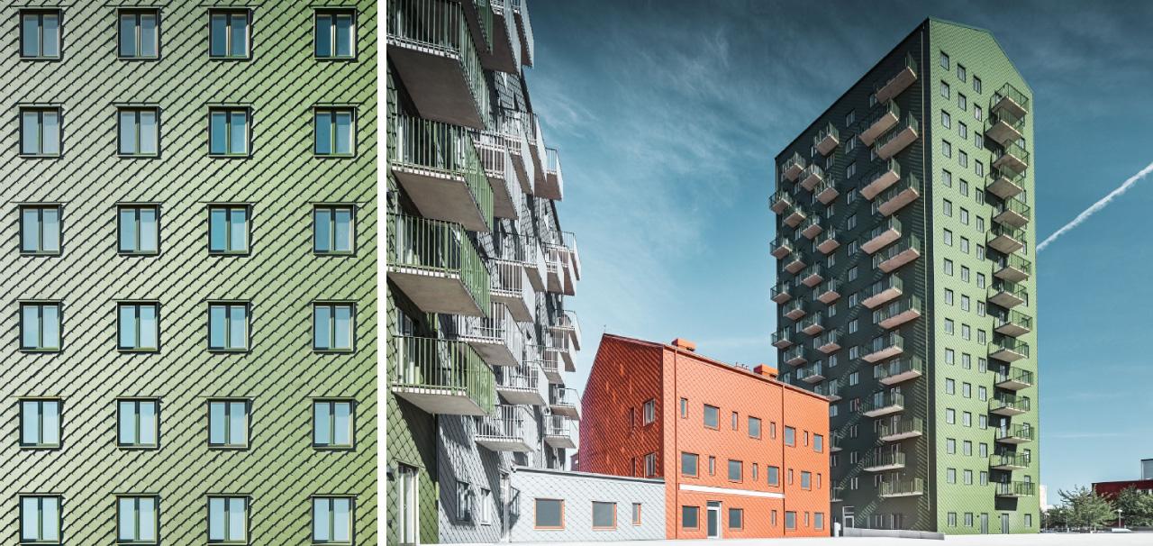 kvarteret dockan white arkitekter prefa återvinning återvunnen aluminium svensk byggplåt åsa askergren Stina Hillinge