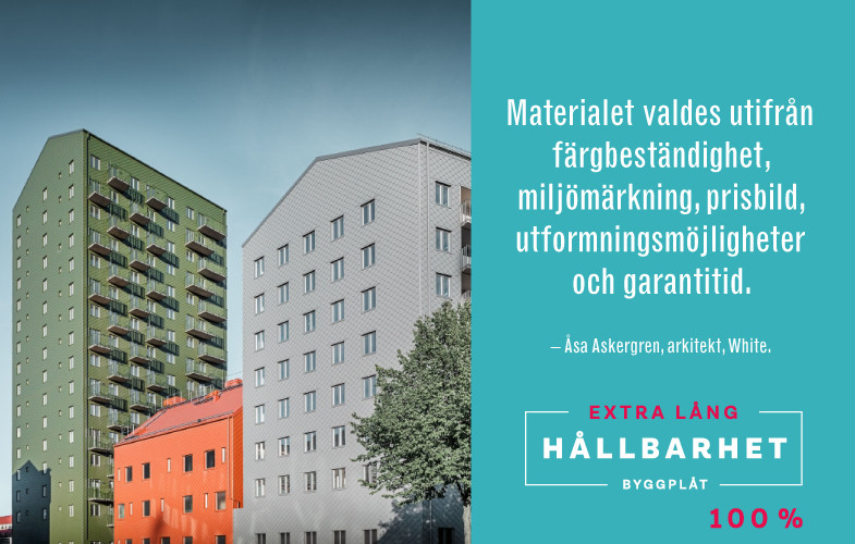 Case 100 %: Svanenmärkta byggnader med fasad i 93% återvunnen aluminium