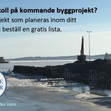 Här finns alla planerade och nu aktuella byggprojekt i Sverige