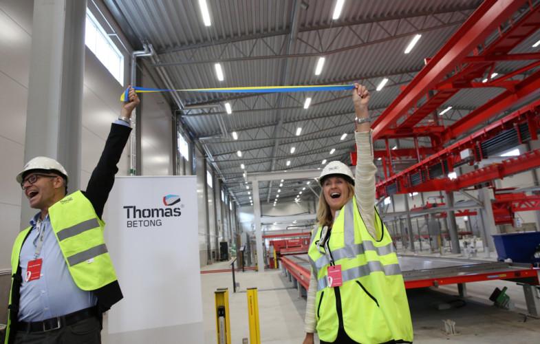 Thomas Betong inviger ny fabrik i Heby väster om Uppsala
