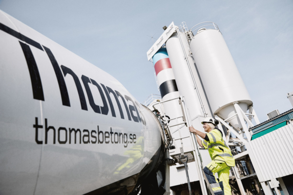 Thomas Betongs fabriker drivs med 100% förnybara bränslen