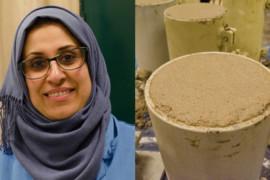 Hon utvecklar ny typ av betong med industriavfall
