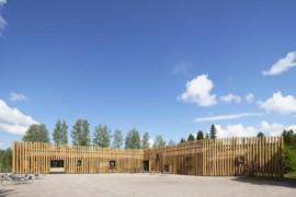 Gammal skola blev kulturhus i trä – prisas internationellt