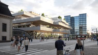 Klartecken för Centralens nya stationsbyggnader
