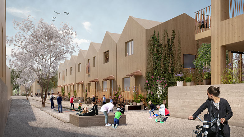 White och Vivere bygger trähus i Riddersvik