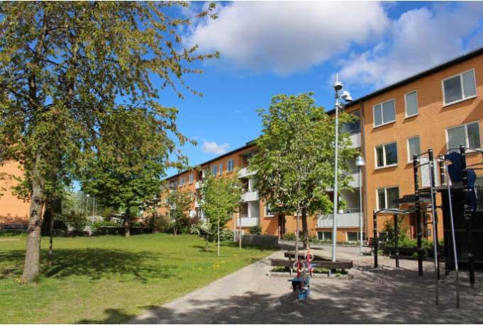 Ombyggt kvarter i Rinkeby certifierat enligt Miljöbyggnad