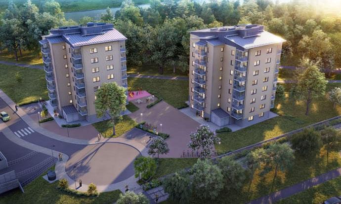 74 nya Svanenmärkta bostäder i Kristianstad står färdiga för uthyrning