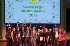 De prisades på Sweden Green Building Awards