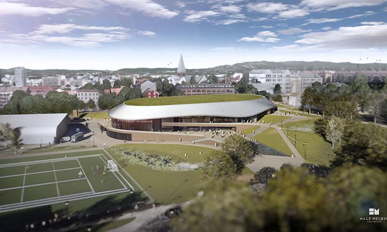 Oslo bygger ny grön ishall i passivhushusmodell