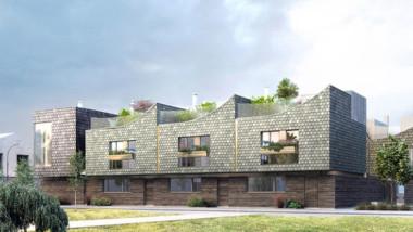Nytt kvarter med passivhus på den skånska kusten