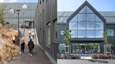 Utbyggd skola i plåt blev stockholmarnas favorit