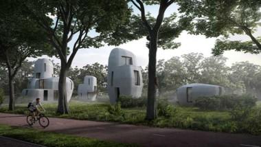 3D-printade betonghus i väntan på inflytt