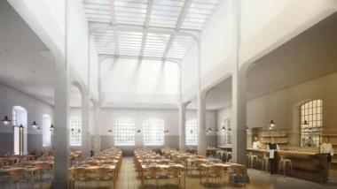 Anrik byggnad i Slakthusområdet upprustad till modern restaurang