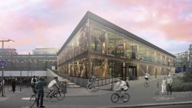 Cykelparkeringshus tar form i Uppsala