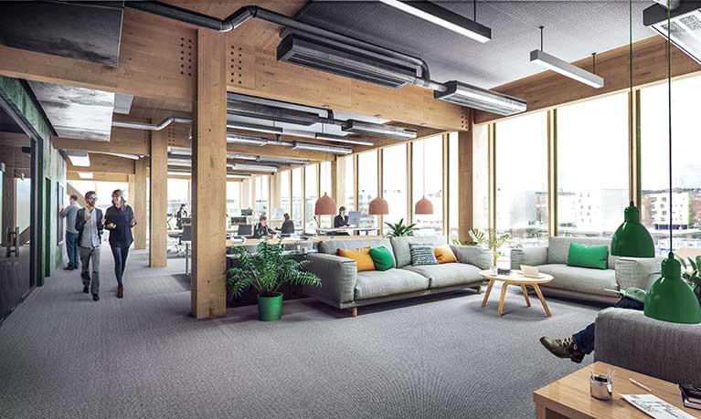 White ritar kontorsbyggnad i trä åt Vasakronan
