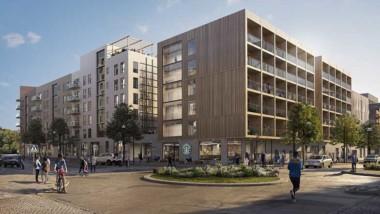 Barkarbystaden får studentbostäder och förskola i trä