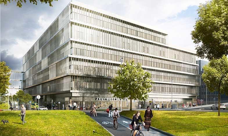 Miljöbyggnad guld till nya akutvårdsbyggnaden i Danderyd