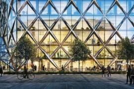 Spektakulärt kontorshus i Gårda främjar rörelse