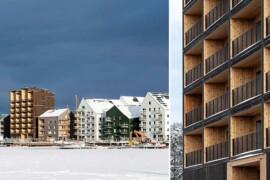 Första hyresgästerna flyttar in i Västerås nya massivträhus