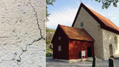 Gammaldags murbruk återskapas för restaurering av kulturbyggnader