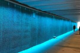Trygghetsskapande ljuskonst i tunnlar tävlar om Svenska Ljuspriset