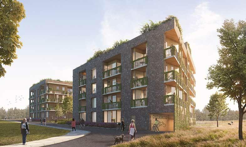 Naturinspirerade trädgårdsvillor växer fram i Helsingborg