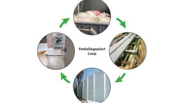 Återvunnen emballageplast blir kompositprofil till bullerplank