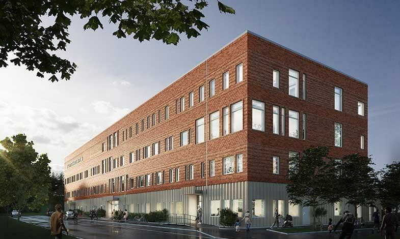 De installerar ventilationen i Jönköpings vårdcentrum