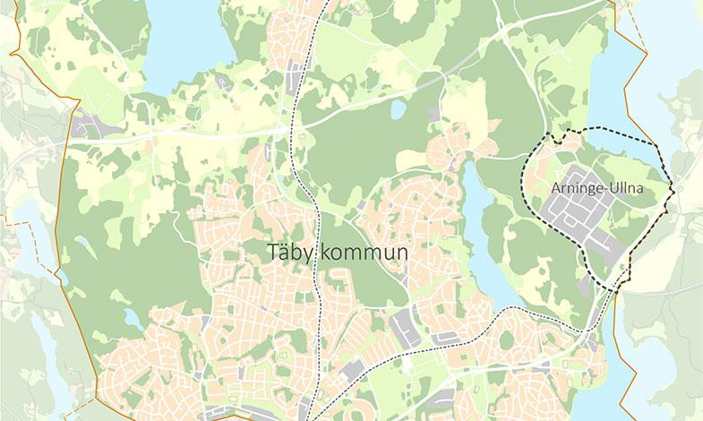 Tovatt Architects & Planners och Sweco utformar stadsdel i Täby