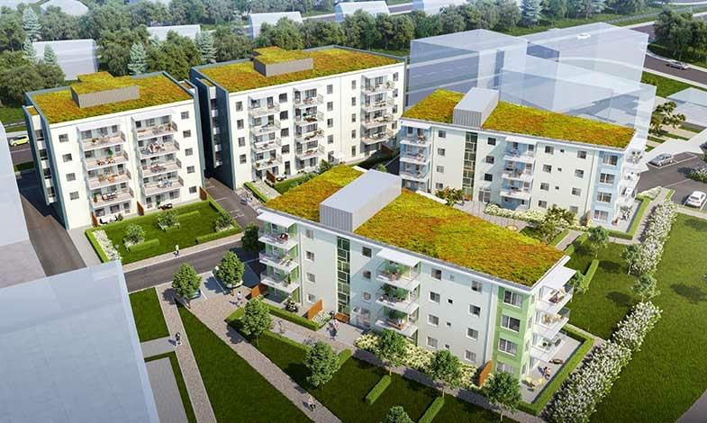 Arenaparken i Lund får 80 nya bostadsrätter