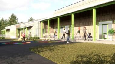 Värmedriven kyla optimerar inomhusklimatet i Piteås nya förskola