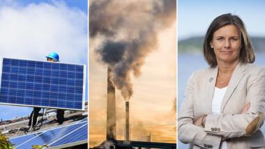 Regeringen satsar på solceller och minusutsläpp i vårbudgeten