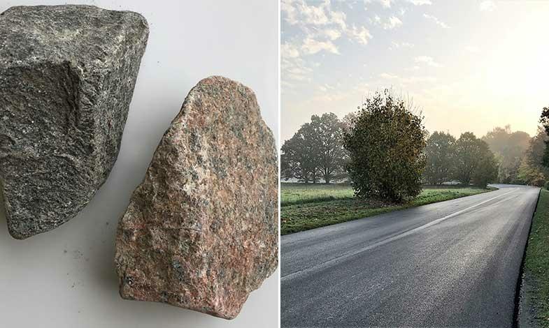 Återvunnen järnvägsmakadam blev ny asfalt