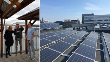 Ny solcellsanläggning invigd på Castellums fastighet i Västberga
