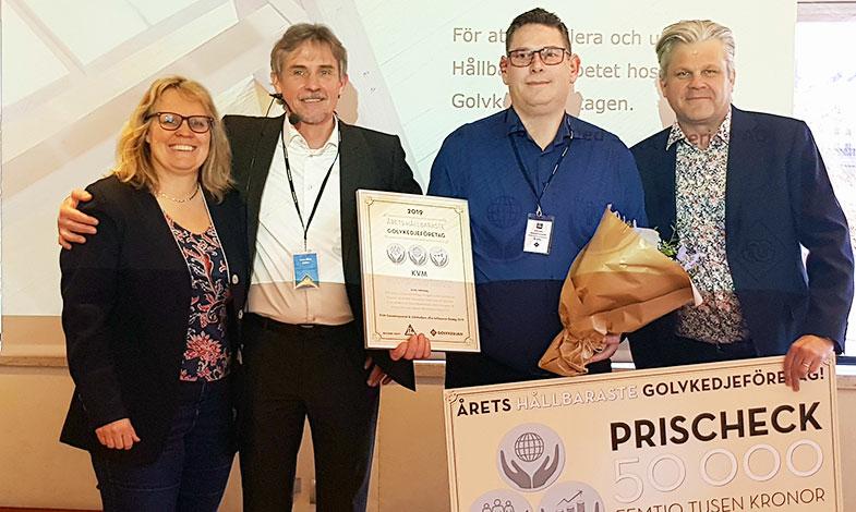 Norrköpingsföretag blev årets hållbaraste golvkedjeföretag